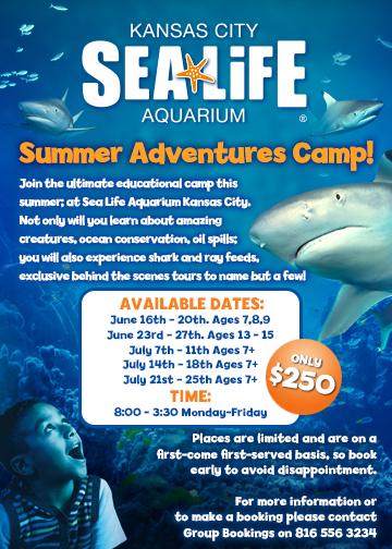 EALIFE Aquarium Kansas City Summer Campscom