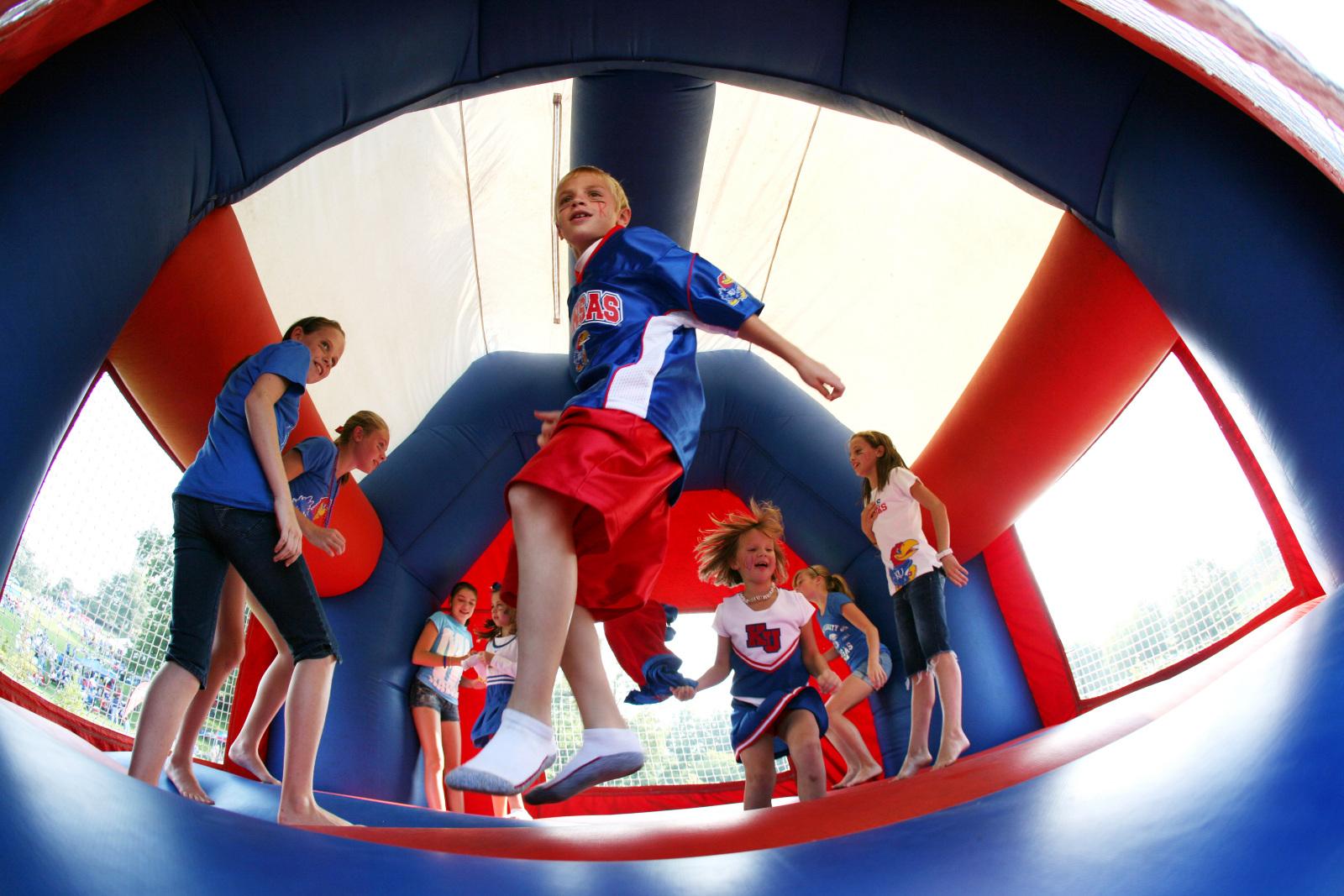 KU football HyVee Hawk Zone for kids